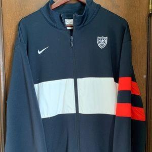 Nike US Soccer Track Warm-up Jacket Size XXL 2XL